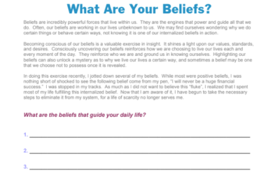 Beliefs That Guide Your Daily Life