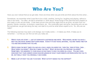Who Are You? Journal Questions